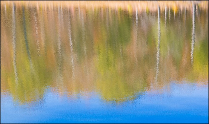 Fall Foliage Reflected in Lake Fort Smith 8755