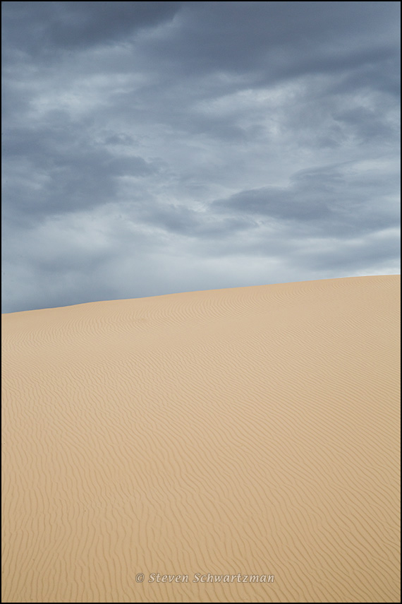 Monahans Sand Dunes and Dark Clouds 9128