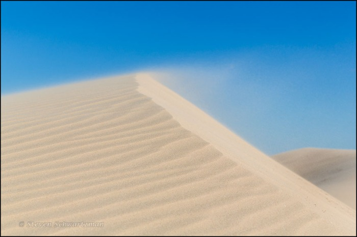 Sand Blowing Off Dune 9392