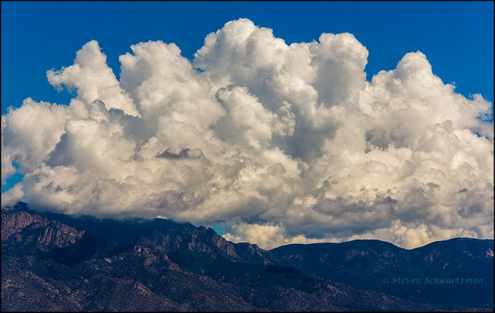 Afternoon Clouds over the Sandia Mountains 0405