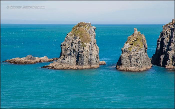 Rocks Seen in Sea from Interislander 5454