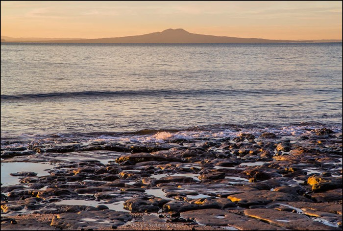 Rangitoto Island from Little Manly Beach at Dawn 8321