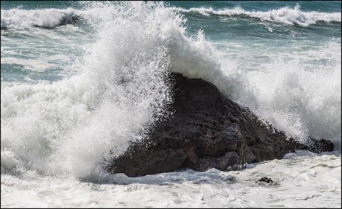 Surf Crashing on Rocks 7703
