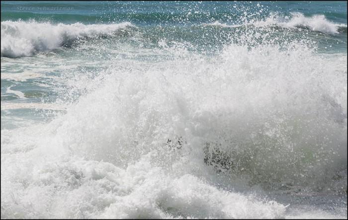 Surf Crashing on Rocks 7706
