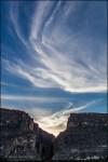 Wispy Sunset Clouds over Santa Elena Canyon 0140A