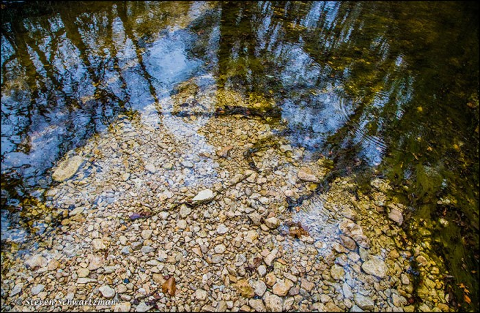 Rocks and Reflections in Creek 5931